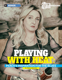 PEACH: Featured Interview 'Playing with Heat' by Guitar Girl Magazine